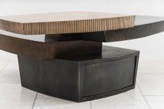 Gary Magakis Gary Magakis Bronze and Steel Stacked Low Table with Drawer USA - 2019698