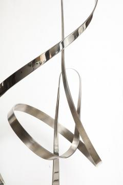 Gary Traczyk Signed Stainless Steel Kinetic Sculpture Infinity  - 1089131