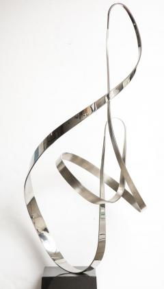 Gary Traczyk Signed Stainless Steel Kinetic Sculpture Infinity  - 1089133
