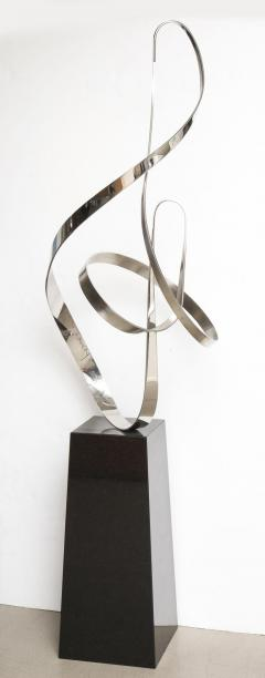 Gary Traczyk Signed Stainless Steel Kinetic Sculpture Infinity  - 1089134