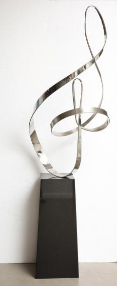 Gary Traczyk Signed Stainless Steel Kinetic Sculpture Infinity  - 1089135