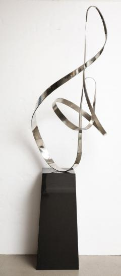 Gary Traczyk Signed Stainless Steel Kinetic Sculpture Infinity  - 1089137