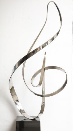 Gary Traczyk Signed Stainless Steel Kinetic Sculpture Infinity  - 1089138