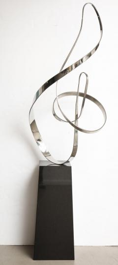 Gary Traczyk Signed Stainless Steel Kinetic Sculpture Infinity  - 1089139