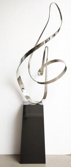 Gary Traczyk Signed Stainless Steel Kinetic Sculpture Infinity  - 1089140