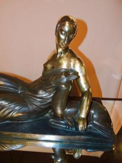 Gaston B guin French Art Deco Golden Bronze Sculpture by Gaston Beguin - 1386910