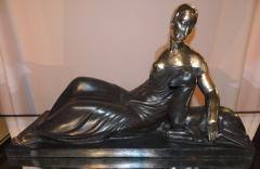 Gaston B guin French Art Deco Golden Bronze Sculpture by Gaston Beguin - 1386911