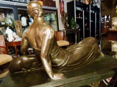 Gaston B guin French Art Deco Golden Bronze Sculpture by Gaston Beguin - 1386912