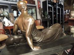 Gaston B guin French Art Deco Golden Bronze Sculpture by Gaston Beguin - 1386913