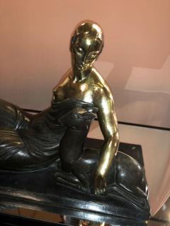 Gaston B guin French Art Deco Golden Bronze Sculpture by Gaston Beguin - 1386914