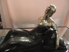 Gaston B guin French Art Deco Golden Bronze Sculpture by Gaston Beguin - 1386915