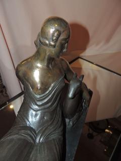 Gaston B guin French Art Deco Golden Bronze Sculpture by Gaston Beguin - 1386916
