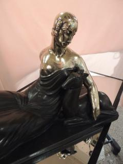 Gaston B guin French Art Deco Golden Bronze Sculpture by Gaston Beguin - 1386917