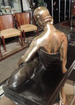 Gaston B guin French Art Deco Golden Bronze Sculpture by Gaston Beguin - 1386918