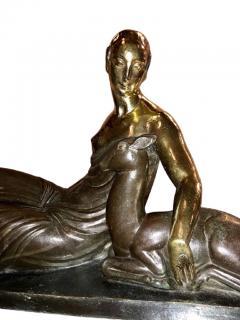 Gaston B guin French Art Deco Golden Bronze Sculpture by Gaston Beguin - 1386920