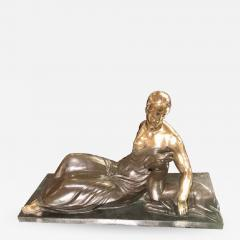 Gaston B guin French Art Deco Golden Bronze Sculpture by Gaston Beguin - 1387347