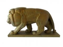 Gaston Etienne Le Bourgeois A Monumental French Art Deco Bronze Model of A Lion - 1152249