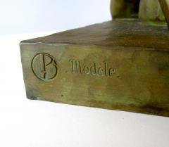 Gaston Etienne Le Bourgeois A Monumental French Art Deco Bronze Model of A Lion - 1152251
