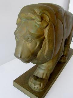 Gaston Etienne Le Bourgeois A Monumental French Art Deco Bronze Model of A Lion - 1152252