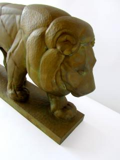 Gaston Etienne Le Bourgeois A Monumental French Art Deco Bronze Model of A Lion - 1152254