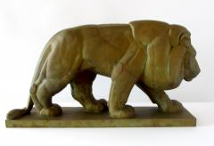 Gaston Etienne Le Bourgeois A Monumental French Art Deco Bronze Model of A Lion - 1152256