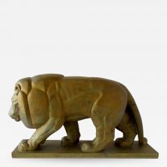 Gaston Etienne Le Bourgeois A Monumental French Art Deco Bronze Model of A Lion - 1163193