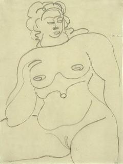 Gaston Lachaise Female Nude - 1128188