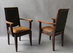 Gaston Poisson SET OF 10 FRENCH ART DECO MAHOGANY CHAIRS BY GASTON POISSON 8 SIDE AND 2 ARM  - 1030829