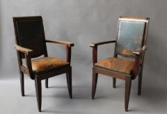 Gaston Poisson SET OF 10 FRENCH ART DECO MAHOGANY CHAIRS BY GASTON POISSON 8 SIDE AND 2 ARM  - 1030830