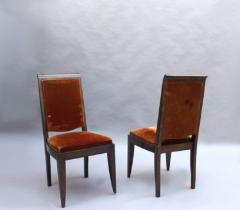 Gaston Poisson SET OF 10 FRENCH ART DECO MAHOGANY CHAIRS BY GASTON POISSON 8 SIDE AND 2 ARM  - 1030831