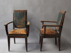 Gaston Poisson SET OF 10 FRENCH ART DECO MAHOGANY CHAIRS BY GASTON POISSON 8 SIDE AND 2 ARM  - 1030832