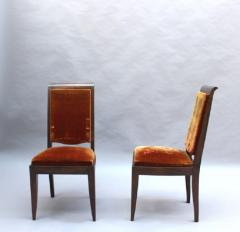 Gaston Poisson SET OF 10 FRENCH ART DECO MAHOGANY CHAIRS BY GASTON POISSON 8 SIDE AND 2 ARM  - 1030834