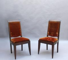 Gaston Poisson SET OF 10 FRENCH ART DECO MAHOGANY CHAIRS BY GASTON POISSON 8 SIDE AND 2 ARM  - 1030835