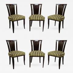 Gaston Poisson Set Of Six French Art Deco Chairs By Gaston Poisson