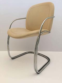 Gastone Rinaldi Italian Chrome and Leather Chairs by Gastone Rinaldi for RIMA circa 1970s - 1810288