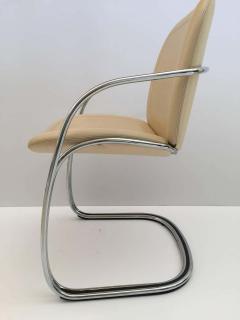 Gastone Rinaldi Italian Chrome and Leather Chairs by Gastone Rinaldi for RIMA circa 1970s - 1810297