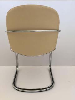 Gastone Rinaldi Italian Chrome and Leather Chairs by Gastone Rinaldi for RIMA circa 1970s - 1810298