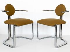 Gastone Rinaldi Pair of Chrome Armchairs by Gastone Rinaldi for Thema Italy - 1096779