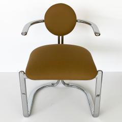 Gastone Rinaldi Pair of Chrome Armchairs by Gastone Rinaldi for Thema Italy - 1096780