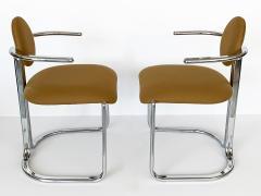 Gastone Rinaldi Pair of Chrome Armchairs by Gastone Rinaldi for Thema Italy - 1096782