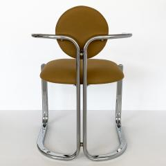 Gastone Rinaldi Pair of Chrome Armchairs by Gastone Rinaldi for Thema Italy - 1096786