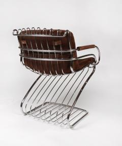 Gastone Rinaldi Set of 6 Solid Steel Gastone Rinaldi Italian Modernist Dining Chairs for Rima - 1017266