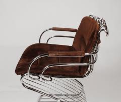 Gastone Rinaldi Set of 6 Solid Steel Gastone Rinaldi Italian Modernist Dining Chairs for Rima - 1017267