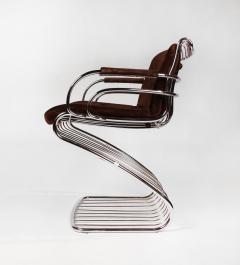 Gastone Rinaldi Set of 6 Solid Steel Gastone Rinaldi Italian Modernist Dining Chairs for Rima - 1017268