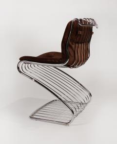 Gastone Rinaldi Set of 6 Solid Steel Gastone Rinaldi Italian Modernist Dining Chairs for Rima - 1017269