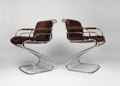 Gastone Rinaldi Set of 6 Solid Steel Gastone Rinaldi Italian Modernist Dining Chairs for Rima - 1017271