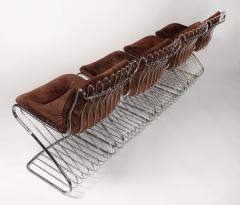 Gastone Rinaldi Set of 6 Solid Steel Gastone Rinaldi Italian Modernist Dining Chairs for Rima - 1017273