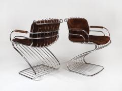 Gastone Rinaldi Set of 6 Solid Steel Gastone Rinaldi Italian Modernist Dining Chairs for Rima - 1017274