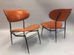 Gastone Rinaldi Two Pairs of Italian Mid Century Modern Lounge Chairs by Gastone Rinaldi - 1599310