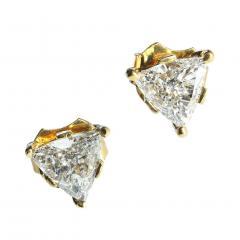 Gemjunky 1 25 Carat Glittering Trillion Diamond Stud Earrings - 1659259